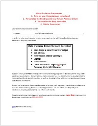 Nonprofit Support Letter Template