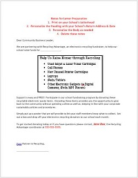 Business support Letter Template