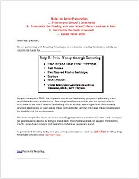 Faculty & Staff Letter Template