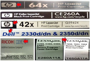 OEM Laser Toner Labels