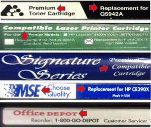 Reman Laser Toner Labels